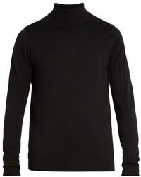 Sunspel Roll Neck Wool Sweater