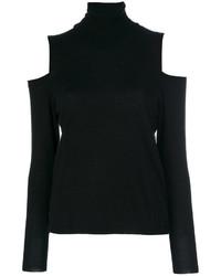 P.A.R.O.S.H. Turtleneck Cold Shoulder Sweater