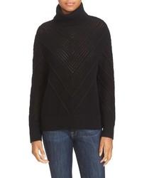 Wool cashmere turtleneck sweater medium 817076