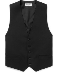 Black Wool Waistcoat