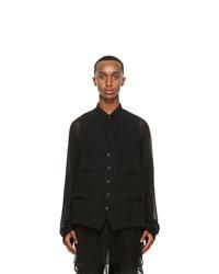 Ann Demeulemeester Black Classic Waistcoat