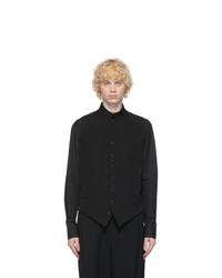 Yohji Yamamoto Black Wool And Silk Waistcoat