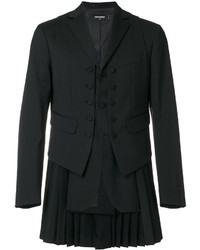 DSQUARED2 Pleated Panel Waistcoat Blazer