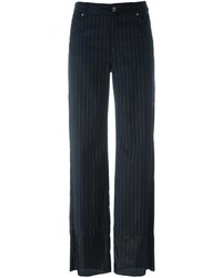 Black Wool Wide Leg Pants