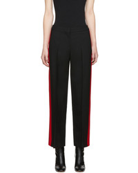 Alexander McQueen Black And Red Trousers