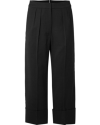 Burberry Cropped Wool And Wide Leg Pants