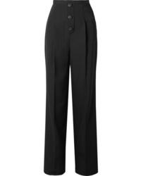 Givenchy De Poudre Wool Wide Leg Pants