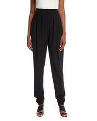 Michael Kors Michl Kors Collection Virgin Wool Pleated Carrot Trousers