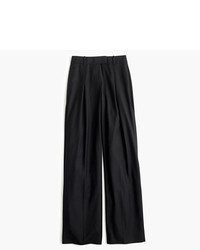 J.Crew Petite Wide Leg Pant In Wool