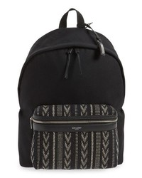 Saint Laurent Pattern City Backpack