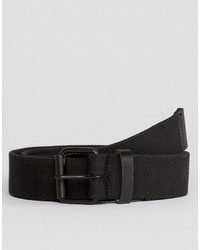 Asos Slim Black Woven Belt With Distressing