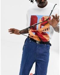 ASOS DESIGN Woven Belt With Carabiner Harness