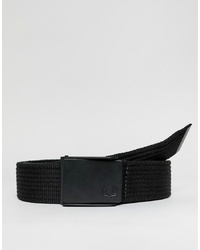 Fred Perry Plain Webbing Belt In Black