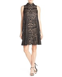 Vince Camuto Burnout Woven Trapeze Dress