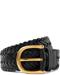Tom Ford 4cm Black Woven Leather Belt