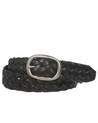 Beltiscool 1 14 Oval Braided Woven Leather Belt