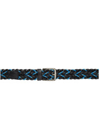 Paul Smith Black And Blue Braided Cord Belt