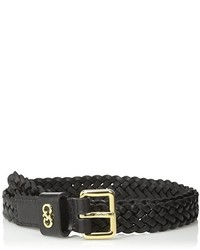 Cole Haan 25mm Braided Belt With Logo Plaque