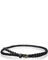 Elise M Florence Leather Skinny Double Wrap Braided Belt