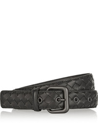 Intrecciato leather belt black medium 1334102