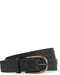 Intrecciato leather belt black medium 1334103