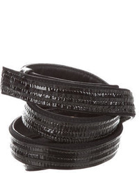 Jil Sander Patent Leather Accented Belt