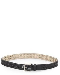 Steve Madden Perforated Lace Detail Belt