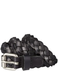 Mossimo Supply Co Braided Black Leather Belt With Silver Buckle Supply Co