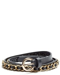 GUESS Woven Chain Skinny Belt