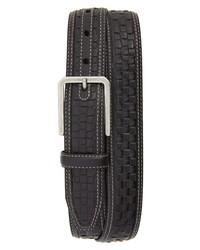 Johnston & Murphy Woven Leather Belt