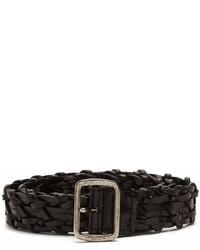 Saint Laurent Woven Leather Belt