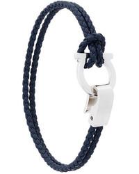 Salvatore Ferragamo Gancio Woven Bracelet