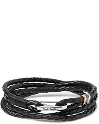 Paul Smith Woven Leather Wrap Bracelet