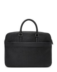 Ermenegildo Zegna Black Pelletessuta Briefcase