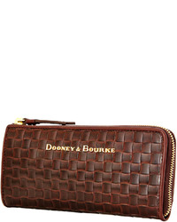 acf8ed7deb ... Dooney   Bourke Claremont Woven Zip Clutch ...