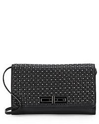 Elliott Lucca Studded Woven Leather Bag