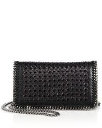 Stella McCartney Falabella Woven Faux Leather Chain Clutch