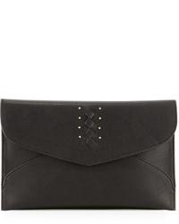 Danielle Nicole Theia Faux Leather Clutch Bag Black