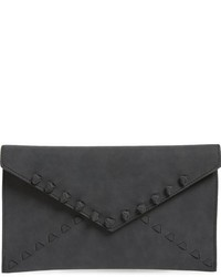 Tina faux leather envelope clutch black medium 801373