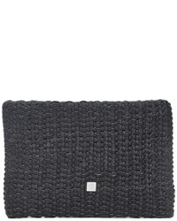 Waterlily La Ibiza Woven Leather Clutch