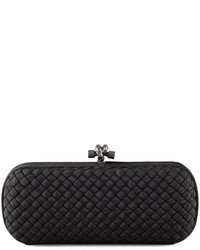 Woven faille large knot clutch bag medium 204778