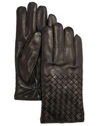 Bottega Veneta Woven Leather Gloves