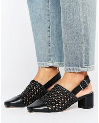 Asos Outlaw Woven Heeled Shoes