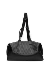 Bottega Veneta Black Intrecciato Duffle Bag