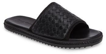 6dd267a01290 ... Black Woven Leather Sandals Tommy Bahama Shore Crest Woven Slide Sandal  ...