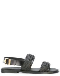Versace Woven Strap Sandals