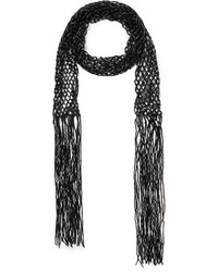 Dries Van Noten Fringed Beaded Macram Scarf