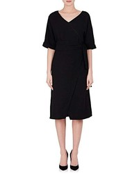 OSMAN Cleo Wool Wrap Dress
