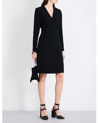 Diane von Furstenberg Long Sleeved Crepe Wrap Dress