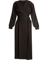 Joseph Mati Stretch Cady Wrap Dress